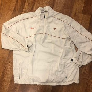 University Texas Longhorns Nike white windbreaker